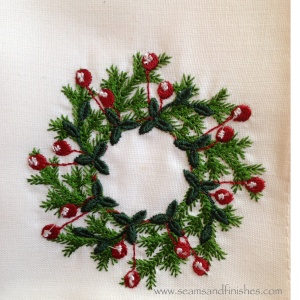 Cranberry wreath Dancing Threads